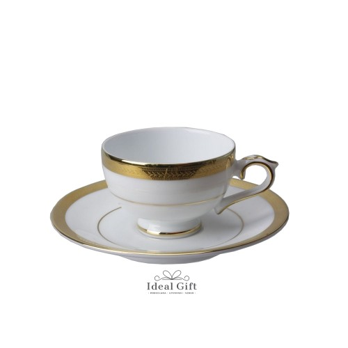 Porcelana Villa Italia - Latina Gold - Filiżanka ze spodkiem do espresso 100 ml