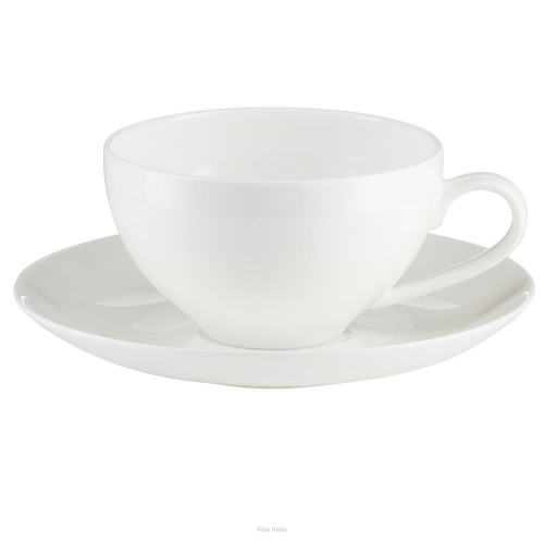 Porcelana Villa Italia - Boston - Filiżanka do herbaty porcelanowa 240 ml ze spodkiem